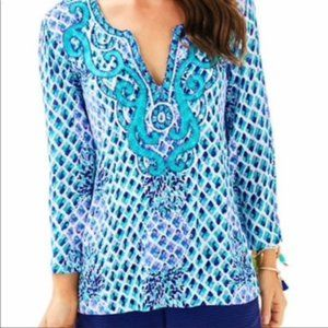 Lilly Pulitzer Embroidered Amelia Island Tunic